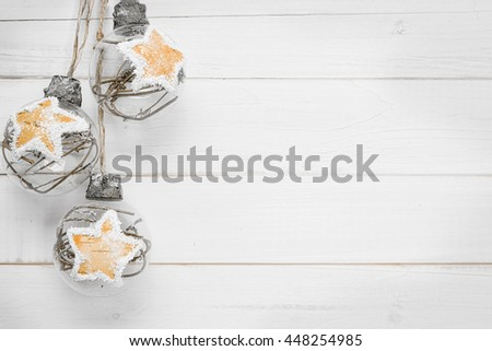 Christmas decorations -Place for your advertisement - stock photo
