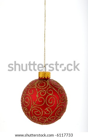 Christmas decorations red
