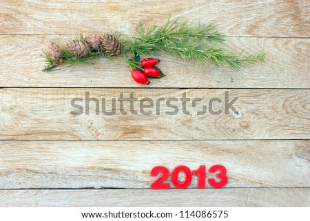 Christmas decorations - space for your text - stock photo