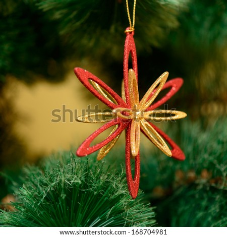 Christmas decorations toys on the Christmas tree. new Year - stock photo