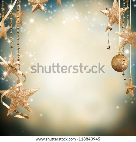 Christmas decorative background with free space for text