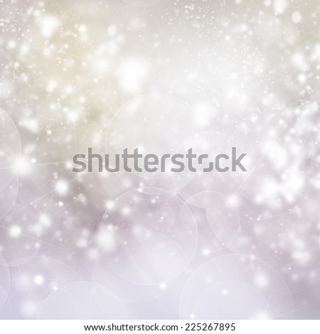 christmas defosued background  tree  branch and gray  gleaming bokeh  background - stock photo