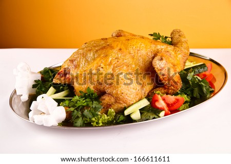 Christmas dinner turkey - stock photo