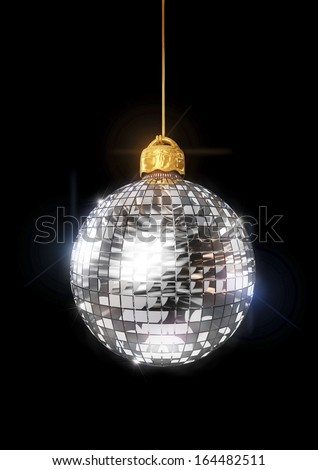 Christmas disco ornament - stock photo