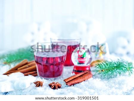 christmas drink - stock photo