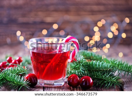 christmas drink - stock photo