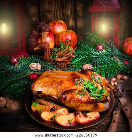 Christmas duck  - stock photo