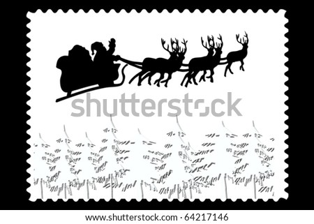 Christmas email stamp or label, - stock photo