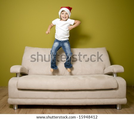 Christmas euphoria - stock photo