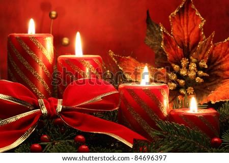 Christmas evening. - stock photo