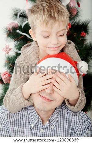 Christmas family - stock photo