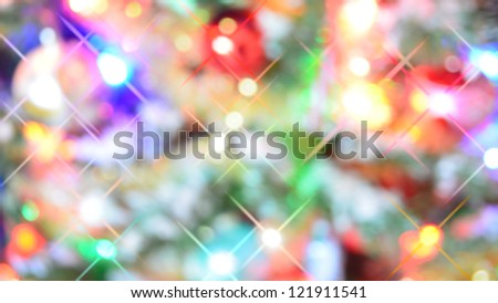 Christmas Festive twinkle colors backdrop - stock photo