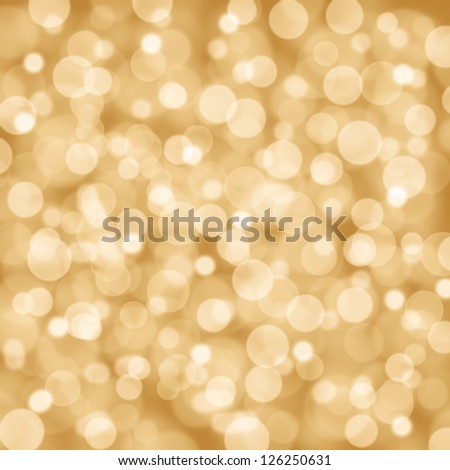 Christmas flavored golden glittery background. - stock photo