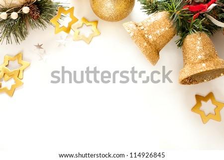 Christmas frame for greeting card - stock photo