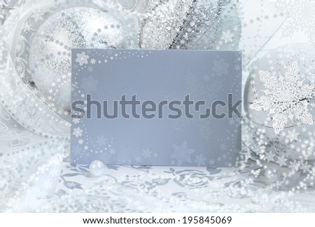 Christmas frame, place for your text - stock photo