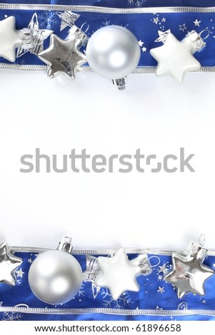 Christmas frame with copy space. - stock photo