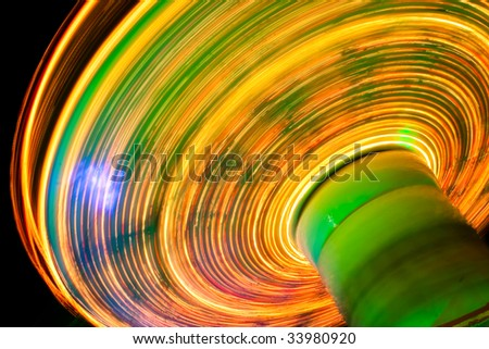 christmas funfair in leicester square - stock photo