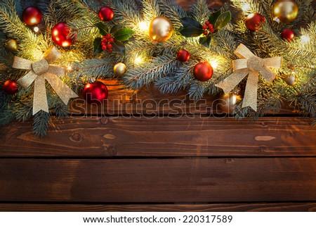 Christmas Garland - stock photo
