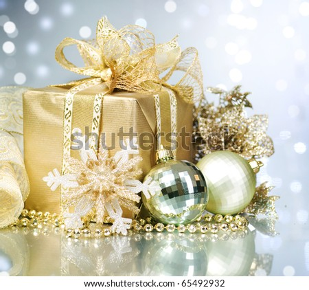 Christmas gift - stock photo