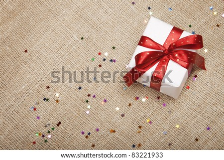 Christmas gift. - stock photo