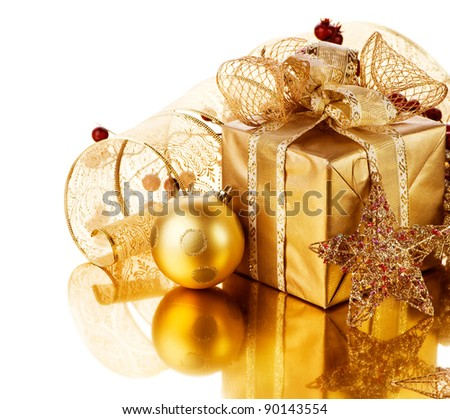 Christmas Gift and decorations - stock photo