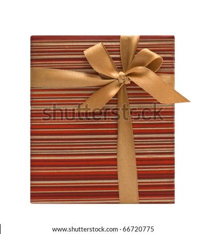 Christmas gift box - stock photo