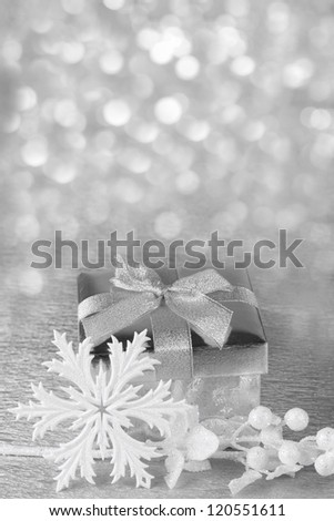 Christmas  gift box and accessories