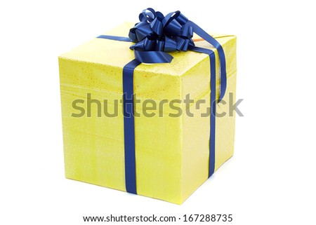 Christmas gift box isolated on white