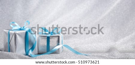 Christmas gift box on abstract background