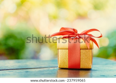 Christmas gift box - Vintage effect style pictures - stock photo
