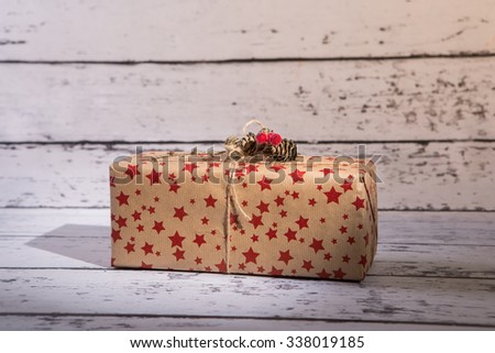 Christmas gift, Christmas presents   - stock photo