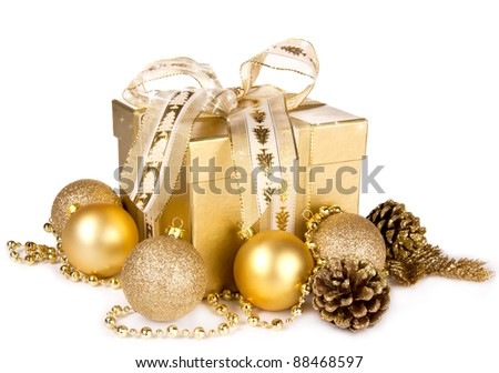 Christmas Gift, isolated on white background