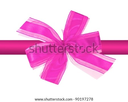 Christmas gift wrapping isolated against a white background