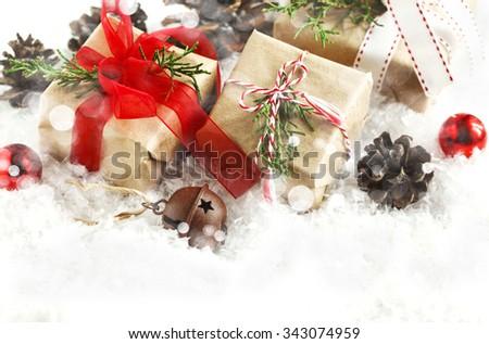 Christmas gifts. - stock photo