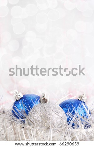Christmas gifts and Christmas-tree decorations. - stock photo