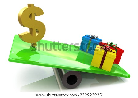 Christmas gifts marketing concept  - stock photo