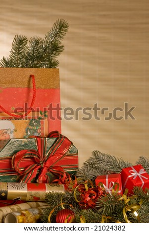 Christmas gifts still life