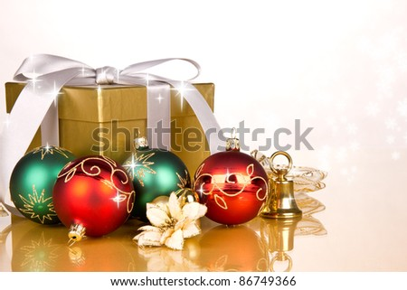 Christmas gifts with decoration