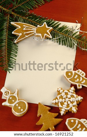 Christmas Gingerbread - stock photo