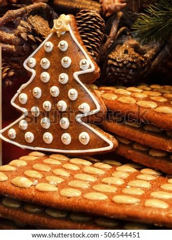Christmas Gingerbread - Christmas tree - Aachen, Germany