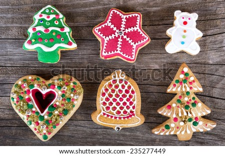 christmas gingerbread cookie - stock photo