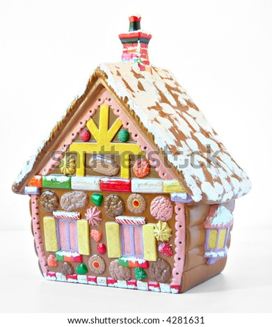 Christmas gingerbread house. - stock photo
