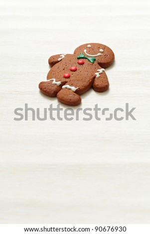 Christmas Gingerbread Man - stock photo