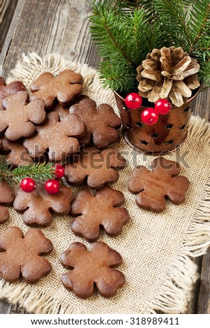 Christmas gingerbread with holiday decoration