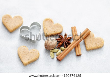Christmas gingerbreads - sweet food /selective focus/