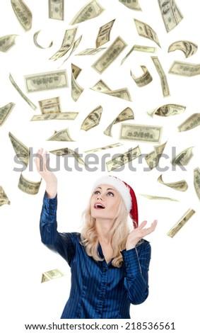 Christmas girl - stock photo