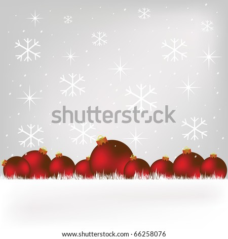 Christmas globe - stock photo