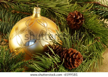 christmas gold still-life