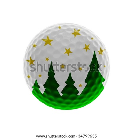 Christmas Golf-ball