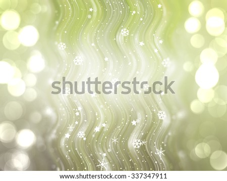 Christmas green background. The winter background, falling snowflakes